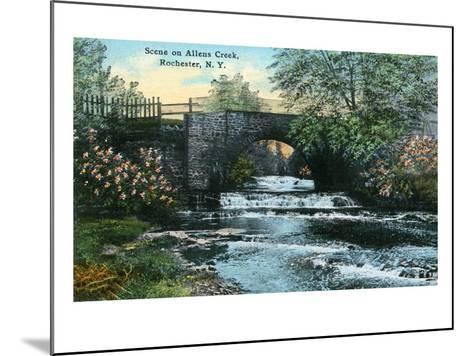 Rochester, New York - Allen's Creek Scene-Lantern Press-Mounted Art Print
