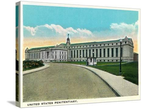Atlanta, Georgia - US Penitentiary Exterior-Lantern Press-Stretched Canvas Print