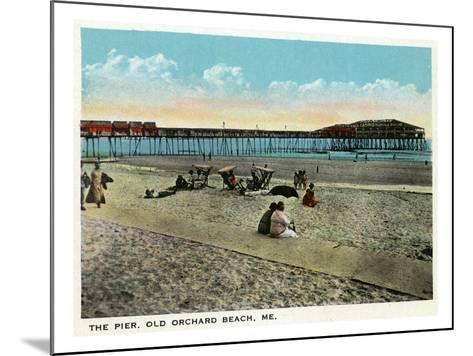 Old Orchard Beach, Maine - View of the Pier-Lantern Press-Mounted Art Print