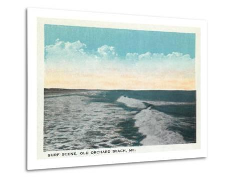 Old Orchard Beach, Maine - View of Surf-Lantern Press-Metal Print