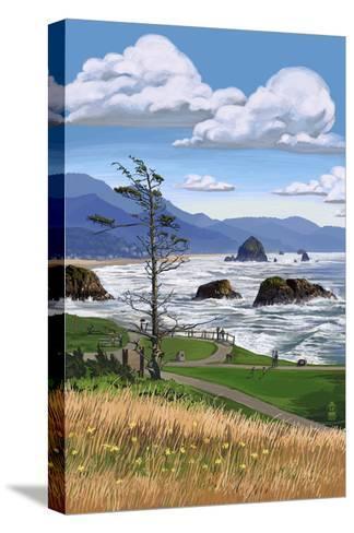 Rocky Coastline-Lantern Press-Stretched Canvas Print