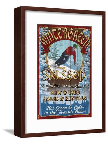 Wintergreen, Virginia - Ski Shop-Lantern Press-Framed Art Print