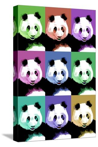 Panda Pop Art - Visit the Zoo-Lantern Press-Stretched Canvas Print