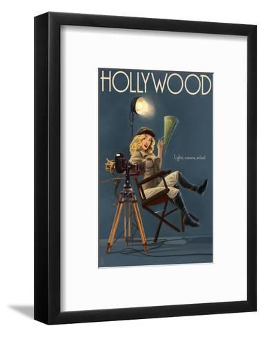 Hollywood, California - Directing Pinup Girl-Lantern Press-Framed Art Print