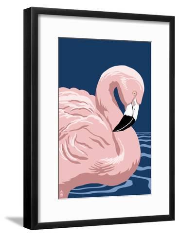 Flamingo Solo-Lantern Press-Framed Art Print