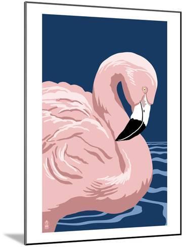 Flamingo Solo-Lantern Press-Mounted Art Print