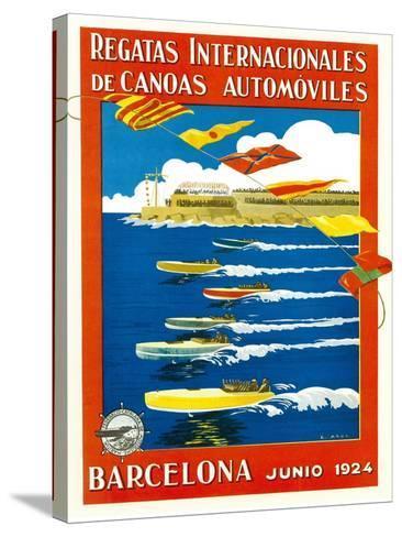 Regatta Internacionales De Canoas Promotion-Lantern Press-Stretched Canvas Print