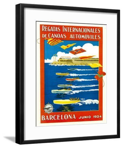 Regatta Internacionales De Canoas Promotion-Lantern Press-Framed Art Print