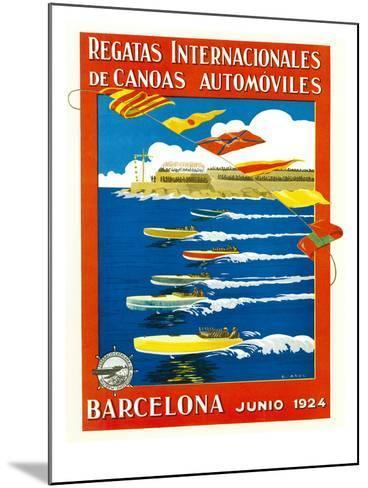 Regatta Internacionales De Canoas Promotion-Lantern Press-Mounted Art Print
