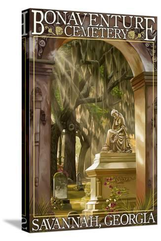 Savannah, Georgia - Bonaventure Cemetery-Lantern Press-Stretched Canvas Print