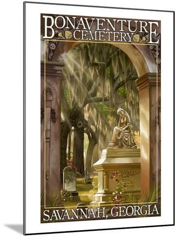 Savannah, Georgia - Bonaventure Cemetery-Lantern Press-Mounted Art Print