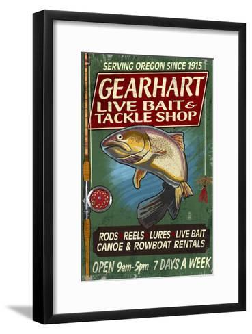 Bait and Tackle Shop Trout -Gearhart, Oregon-Lantern Press-Framed Art Print
