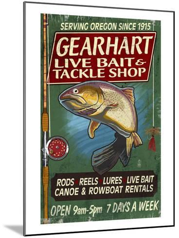 Bait and Tackle Shop Trout -Gearhart, Oregon-Lantern Press-Mounted Art Print