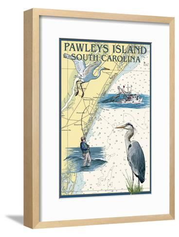 Pawleys Island, South Carolina - Nautical Chart-Lantern Press-Framed Art Print