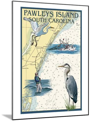 Pawleys Island, South Carolina - Nautical Chart-Lantern Press-Mounted Art Print