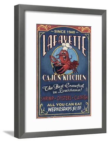 Lafayette, Louisiana - Cajun Kitchen-Lantern Press-Framed Art Print