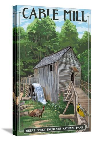 Cable Mill - Great Smoky Mountains National Park, TN-Lantern Press-Stretched Canvas Print