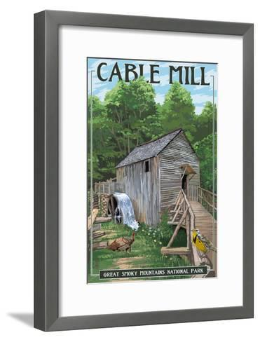Cable Mill - Great Smoky Mountains National Park, TN-Lantern Press-Framed Art Print