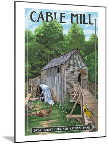 Cable Mill - Great Smoky Mountains National Park, TN-Lantern Press-Mounted Art Print