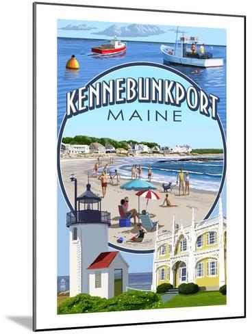Kennebunkport, Maine - Montage Scenes-Lantern Press-Mounted Art Print