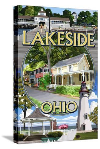 Lakeside, Ohio - Montage Scenes-Lantern Press-Stretched Canvas Print