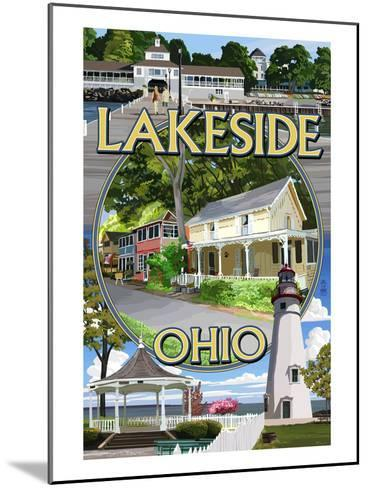 Lakeside, Ohio - Montage Scenes-Lantern Press-Mounted Art Print