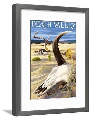 Cow Skull - Death Valley National Park-Lantern Press-Framed Art Print