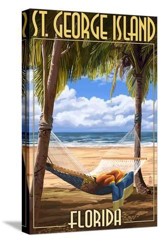 Hammock - St. George Island, Florida-Lantern Press-Stretched Canvas Print