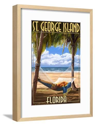 Hammock - St. George Island, Florida-Lantern Press-Framed Art Print