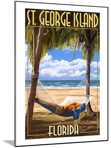 Hammock - St. George Island, Florida-Lantern Press-Mounted Art Print