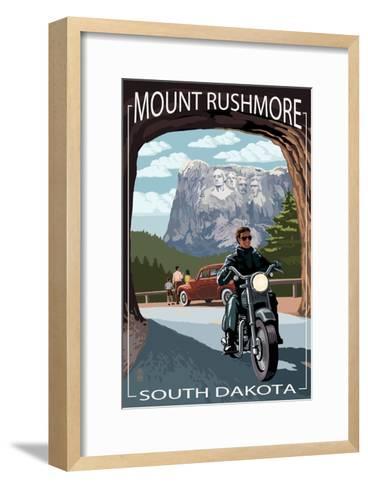 Mount Rushmore National Memorial, South Dakota - Tunnel Scene-Lantern Press-Framed Art Print