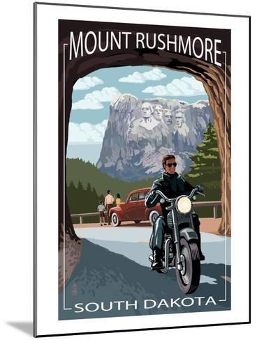 Mount Rushmore National Memorial, South Dakota - Tunnel Scene-Lantern Press-Mounted Art Print