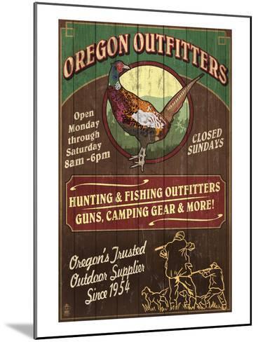 Oregon Outfitters - Pheasant-Lantern Press-Mounted Art Print