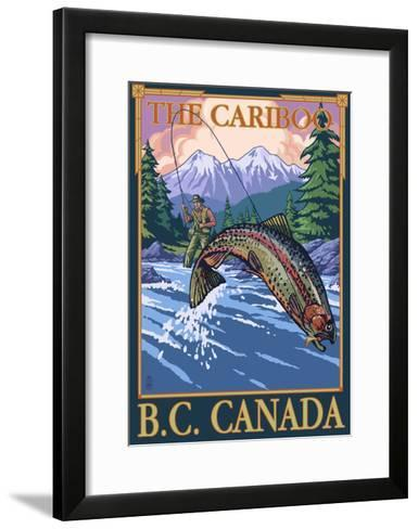Fly Fisherman - The Cariboo, BC, Canada-Lantern Press-Framed Art Print
