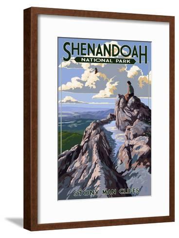 Shenandoah National Park, Virginia - Stony Man Cliffs View-Lantern Press-Framed Art Print
