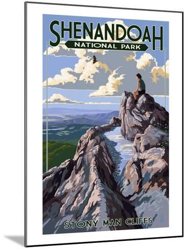 Shenandoah National Park, Virginia - Stony Man Cliffs View-Lantern Press-Mounted Art Print