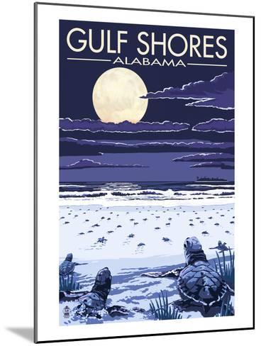 Gulf Shores, Alabama - Sea Turtles-Lantern Press-Mounted Art Print