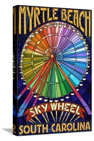Myrtle Beach, South Carolina - Skywheel-Lantern Press-Stretched Canvas Print