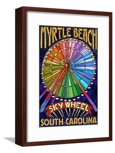 Myrtle Beach, South Carolina - Skywheel-Lantern Press-Framed Art Print
