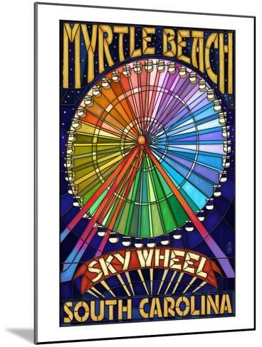 Myrtle Beach, South Carolina - Skywheel-Lantern Press-Mounted Art Print
