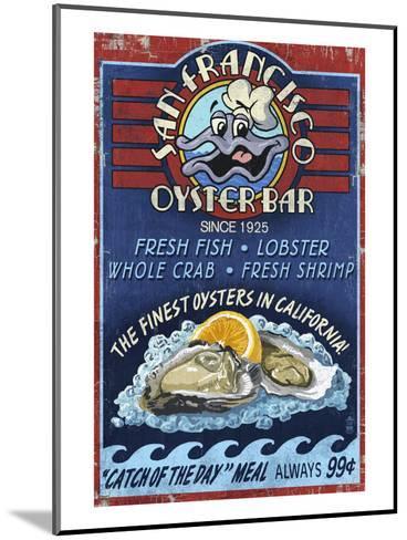 San Francisco, California - Oyster Bar-Lantern Press-Mounted Art Print