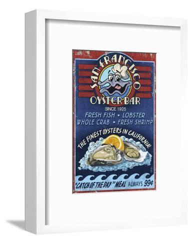 San Francisco, California - Oyster Bar-Lantern Press-Framed Art Print