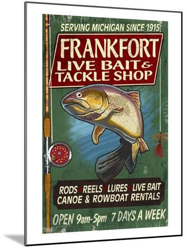 Frankfort, Michigan - Trout Tackle Shop-Lantern Press-Mounted Art Print