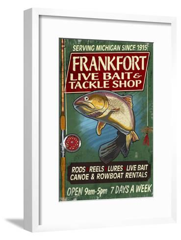 Frankfort, Michigan - Trout Tackle Shop-Lantern Press-Framed Art Print