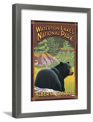 Waterton Lakes National Park, Canada - Bear in Forest-Lantern Press-Framed Art Print