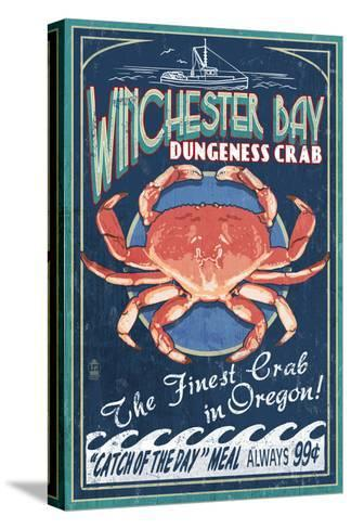 Winchester Bay, Oregon - Dungeness Crab-Lantern Press-Stretched Canvas Print