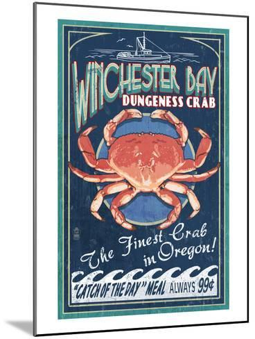 Winchester Bay, Oregon - Dungeness Crab-Lantern Press-Mounted Art Print