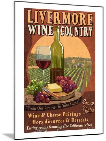 Livermore, California - Wine-Lantern Press-Mounted Art Print
