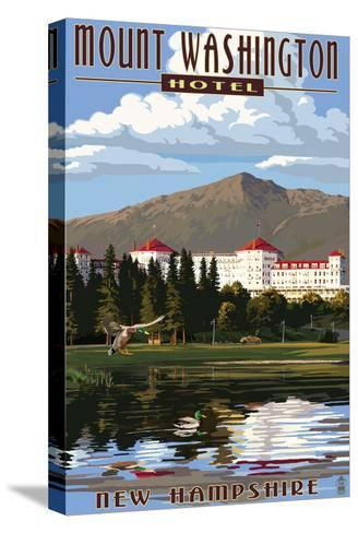 Mount Washington Hotel - Bretton Woods, New Hampshire-Lantern Press-Stretched Canvas Print
