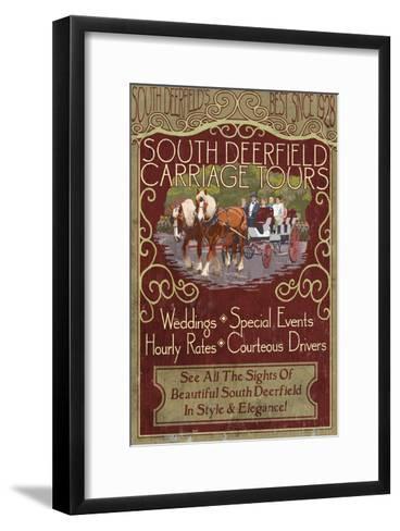 South Deerfield, Massachusetts - Carriage Tours-Lantern Press-Framed Art Print